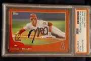 2013 Topps Series 1 Red Target Border Mike Trout Auto Autograph Signed...