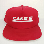 Vintage K Products Snapback Hat Case Ih Farming Tractor Usa Red Baseball Cap