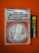 2011 S 1 American Silver Eagle Anacs Ms70 Fr Struck At The San Francisco Mint