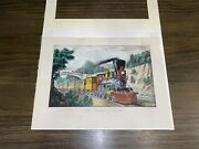 Original Currier And Ives Print The Express Train Great Color New Best 50 Small