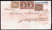 France 1853-60 Napoleon Iii Empire Issue On 2fr10c Rate Cover To Ecuador 14 18