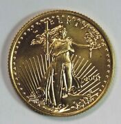 2001 Bu American Gold Eagle Age 1/4oz .999 Gold Coin Better Date