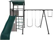 Backyard/outdoor Play Set Lifetime Adventure Clubhouse Swing Set Brown/green