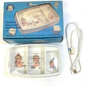 Vintage Gerber Hot 'n Cold Feeding Dish Deluxe Electric And Cover Model 3718