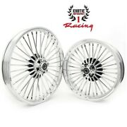 New Front Rear Cast Wheels Fat 36 Spokes For Harley Softail Touring 21/16