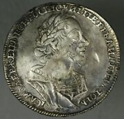 Russia 1724 Rouble Xf Problems Bent Lamination Contact Marks A2614