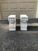 From The Former Estate Of Mike Tyson - 2 Corinthian Column End Tables/pedestals