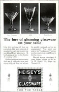 Heisey Glassware Saucer Champagne Goblet Footed Sherbet Orig. 1920 Magazine Ad