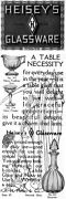 Heisey Glassware Decanter Optic Frappe Hasty-pudding Dish Crystal 1914 Print Ad
