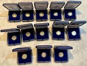2 Euro Proof Italy 2014 To 2021 Lot Of 13 Proof Coins Box + Coa