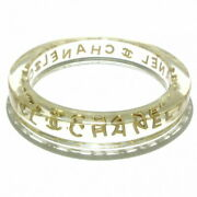 Sale  Bangle Plastic Metal Material Clear Gold Previously Owned No.5256