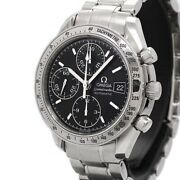 Sale Omega Ss Speedmaster Date 3513.50 Automatic Black Dial Mens No.4330
