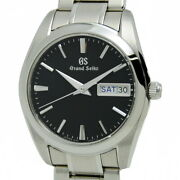 Grand Seiko Gs Box Guarantee Menand039s Watches Day Date Ss Black Sbgt237 No.4200