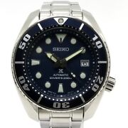 Previously Owned Seiko Diver Scuba Prospex Automatic Winding Ss Navy No.3328