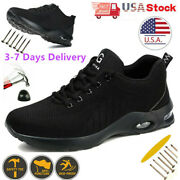 Womens Work Boots Safety Shoes Anti-slip Steel Toe Mesh Breathable Hiking Climbi