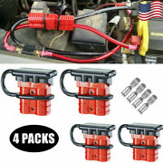 14awg6awg 50a Battery Power Quick Connector Fit Electric Vehicles Trailer 4pack