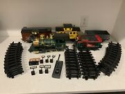 Pennsylvania 9714 Engine Tender And Remote Train G Gauge Tested 19 Track Pcs Signs
