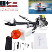 Pro 4 Stroke 3.6 Hp Outboard Motor 55cc Boat Engine With Air Cooling System Fast