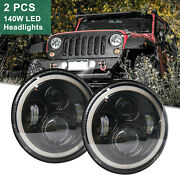 7 Led W/projector Headlights Combo Beams Halo Eye For Jeep For Wrangler 280w