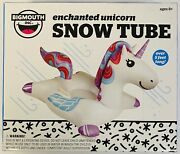 Big Mouth Snow Tube - Enchanted Unicorn Over 5andrsquo Long Ages 8+ Snow Sled New
