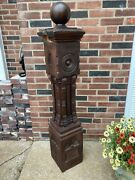 Antique Carved Newel Post 47 Tall Architectural Salvage W/topper 4ft.-10oah