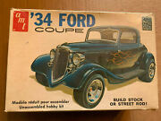 1934 Ford Coupe Amt 1/25 Niob Vintage ▓rare▓ Rat Rod Chopped Sled Look