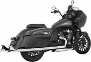 Freedom 2.5 Sharktail Slip-on Exhaust For Indian Challenger 2020 Cholo Chrome
