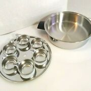 2 Piece Ekco Prudential Ware Pan And 6 Cup Egg Poacher Vintage Cookware No Lid