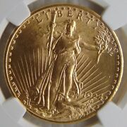1924 St. Gaudens Gold Double Eagle Gold 20 Coin Ngc Ms 65 Beautiful