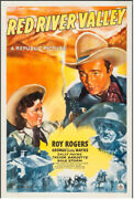 Red River Valley Vintage Western Movie Poster One Sheet Roy Rogers 1941