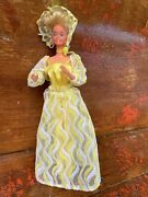 Vintage 1978 Pretty Changes Barbie W/ Jumpsuit Skirt Rose Scarf And Lace Halo Hat