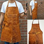 Leather Apron 102 Butcher Bbq, Grill, Kitchen, Woodwork, Barber Welding Tabacco