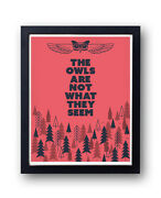 Twin Peaks Print, The Owls Are Not What They Seem David Lynch, Agent Cooper
