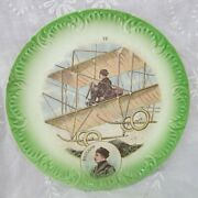 French Talking Plate Aviation History Pioneer Aviator Paulhan Antique C. 1915