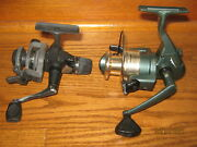 Lot Of 2 Vintage Fishing Spinning Reels Shakespeare Gs35 And Shimano Fx100