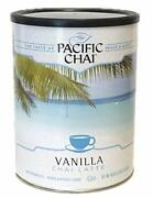 Pacific Chai Vanilla Instant Powdered Chai Mix, 48oz Canister Packaging May