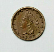 Near Uncirculated 1863 Union Flags Patriotic Civil War Token Cwt-- Must See