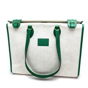 Hermes Hippo 40 Shawl Shoulder Bag Tote Twal Ash Leather Women And039s Green No.9960