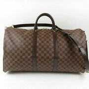 Authentic Louis Vuitton Keypol Bandolier 55 2way Menand039s Yes Damier No.1218