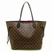 Louis Vuitton Tote Bag Damier Women And039s Neverfulle Mm N51105 Ebene No.1838