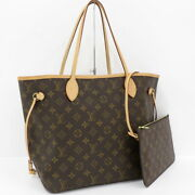 Previously Owned Louis Vuitton Neverfulle Mm Tote Bag Monogram With No.1876