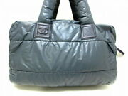Sale Previously Owned Boston Bag Cocococoon Gray Bordeaux Nylon No.1123