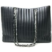 A30038mademoi Shoulder Chain Bag Tote Lambskin Women And039s No.981