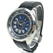 Citizen Aa780002l Campanola Cosmo Sign Wristwatch Ss Leather Belt Mens No.8285