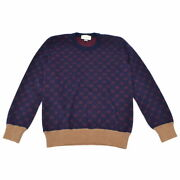 The Real Thing Gg Crew Neck Knit Sweater Tops Wool Alpaca Navy No.3431