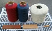 Yarn Mixed Lot 3 Large Rolls Partial Skeins Burg Cream Blue And Xtras