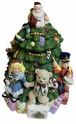 Spode Toys Around The Christmas Tree Cookie Jar Hand Painted Opened Box New
