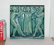Low Chelsea Massachusetts Tile,several Male And Female Figures Dancing C 1882