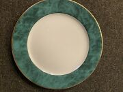 6 Philippe Deshoulieres Limoges Indienne Vert 12 Inch Plates