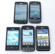 Lot Of 5 Various Working Lg Android Smartphones - Ls670 L75c Ms707
